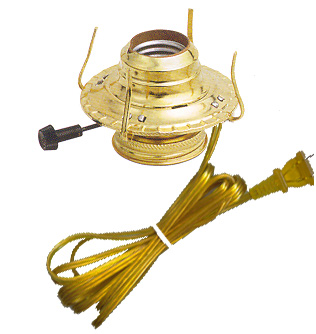 Pre-Wired Burner - Gold Cord: Lamp Shop