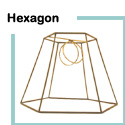 Lampshade Frames: Hexagon